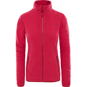 The North Face W's 100 Glacier Full Zip Rumba Red/Cerise Pink Stripe